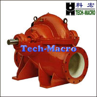 Cast iron single stage double suction diesel engine water pump for pump station