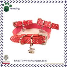 PU Leather Western Dog Collar with Heart Decor