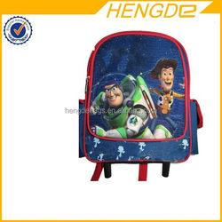Good quality stylish 420d nylon kids trolley school backpack