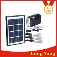 2015 new portable solar lantern kit system solar panel kit with mobile phone charger solar panel , 4AH battery 3W led light