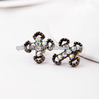Wholesale Antique Cross Hollow Out Rhinestone Earrings