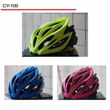 Falconsport Dirt Bike Helmet In Mould Bicycle Safety Helmet Green with blue bicycle Helmet CY-109