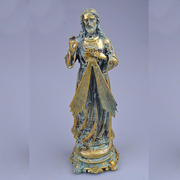 Religious act church decoration antique bronze catholic jesus statue