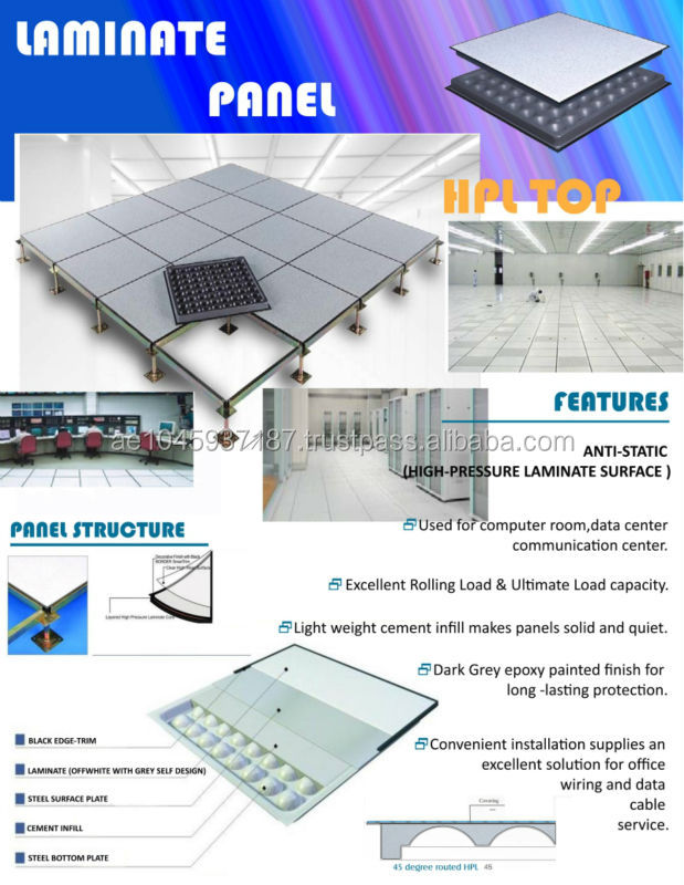 Anti Static Flooring Service : Hpl top anti static flooring cement core buy
