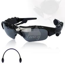 2015 Earphone Wireless Headphone Bluetooth Stereo Music Phone Call Hands free Sunglasses Headset Sv000323