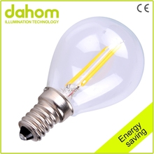 Factory Sale Glass Dimmable Filament Led Lamp,360 Degree Led Filament Bulb Light, 2W E14 Led Filament Bulb