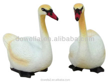 3D Animal Figures Toys, PVC plastic farm wild animal figurines toys,3D white swan Figure toys
