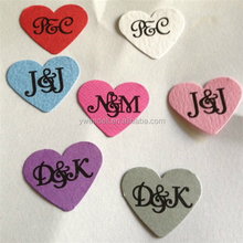 Custom Printed Hearts - Engagement - Wedding - Parties - Table Decoration