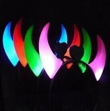 LED glowing devil horns