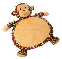 Dazzle Dots Monkey Baby Play Mat / Plush Mat Animal Shape