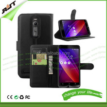 For ASUS zenfone 2 leather case,luxury pu flip leather cell phone case for asus zenfone 2,wallet flip leather case for zenfone 2