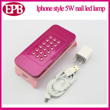 Battery charging nail gel dryer Iphone style Nail LED Lampada 5W