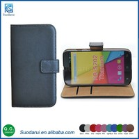 Book style Wallet Stand Flip TPU + leather Cover case for Karbonn Titanium Dazzle 2 S202