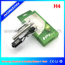 Electronic vaporizer pen H4 clearomizer tank Ego twist blister pack