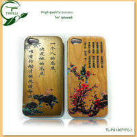 Original Green 100% Natural Bamboo Case for iPhone5,good quality customize bamboo case for iphone5