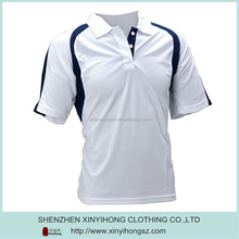 High Quality Men's Fresh Color Polo Shirt white &dark blue color combination polo shirt