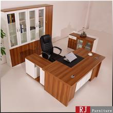 Modern office furniture/MFC manager table design/modern l-shape table in wood