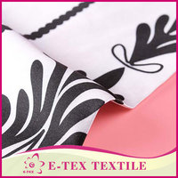 Best selling printed cheap white polyester satin fabric