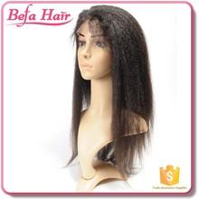 malaysian deep curly full lace wig/real human hair thin skin top lace wig/full lace wig yaki straight