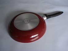 aluminum ceramic fry pan with induction bottom