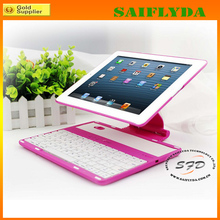 New arrival best selling hot pink for ipad 2 bluetooth keyboard case with handle