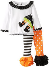 Halloween Dot Stripe Witch Tunic And Legging Set For 3 Year Olds
