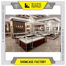 A jewelry store cupboard with 304# stainless steel and low iron tempered glass led power