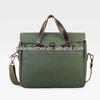 2014 Unique cotton Canvas brief case tote bag with leather/shoulder bag for men