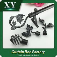 XY 22/28mm black Curtain rod ,new model delicate crystal /glass curtain rod finials ,curtain finials