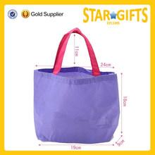 Durable promotional non woven bag custom cheap purple 80g non woven shopping bag