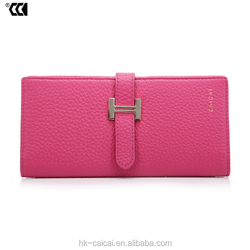Genuine leather Litchi texture lady Wallet, 2015 Top fashion lady wallet
