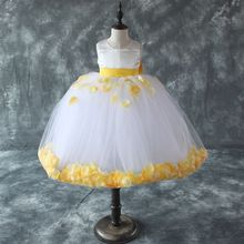 2~12Y shijp99 beautiful flower girl dresses for girls of 7 years old