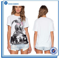 Cute Design With Custom Printed Logo Casual Pants And T-Shirt Matching Wholesale Women