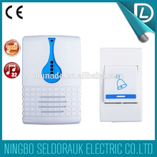 Over 15years experience factory battery type remote control musical wireless dingdong doorbell