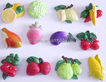 virous fruits and vegetables custom 3d resin fridge magnet for home decor