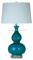 Vibrant turquoise ceramic table lamp acrylic table lamp for home