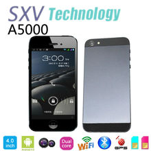"4"" A5000 Dual Core Dual Sim mobile phone with Android 4.0 MTK6577 1GHz 512MB/4GB Dual Camera GPS Bluetooth Capacitive Screen"