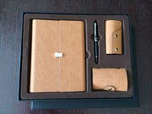 Sistema de cuero al por mayor del regalo de los cuadernos del organizador