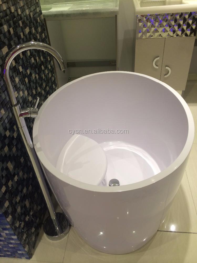 Japanese bathtub small bathtub sizes 1200mm round small for Sit in tub shower
