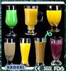 Haonai high transparent fancy juice glass with silkscreem