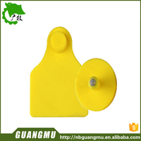 plastic large animal cow ear tag for laser printing