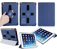 With Hand Holder New Design Ultra Slim Wholesale Factory Price PU Leather Case For ipad 6