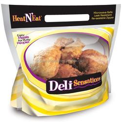 roast chicken bag/fried chicken bag/grilled chicken bag with slide zipper