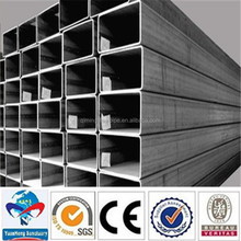 British standard/American standard galvanized square steel pipe and tubes