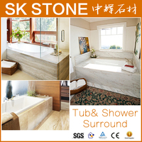 Hot seling triangle shaped corner tub surround marble bathtub outdoor hot tubs