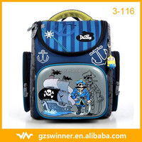 Special pirate captain design Delune brand primary school backpack bag