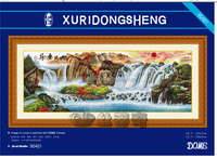 ''A beautiful landscape painting'' dome cross stitch, cross stitch kit, DIY embroidery kit, 40% discount for you