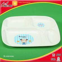 Animal printing plastic children dinner plate for kindergarten