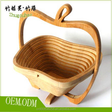 Examples of handicrafts custom bamboo fruit basket