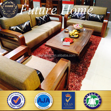 Exquisite luxury best price solid wood china wooden sofa